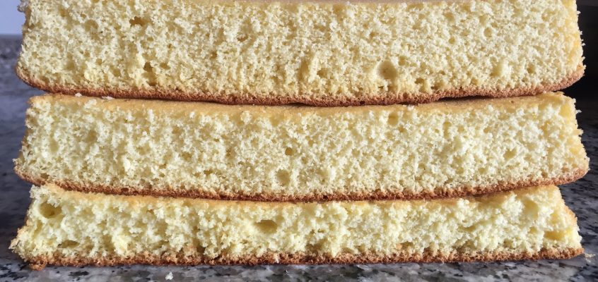 Heavy, medium or light-textured sponge cake?