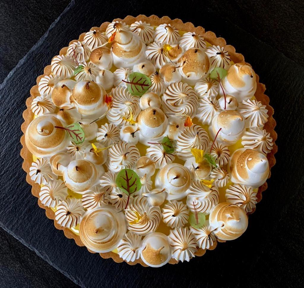 Microwave pasteurized meringue